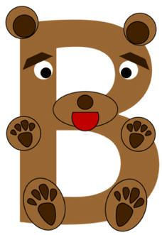 B is for Bear Craft Template