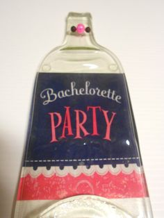 Bachelorette  Gift   Melted wine bottle made by Collectivekayos, $15.00