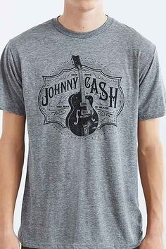 Retro Brand Johnny Cash Tee - Urban Outfitters