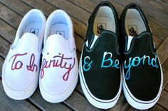 To Infinity & Beyond Custom Hand Painted Couples by BStreetShoes, $199.00