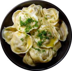 """Russian meat dumplings We Russians are a simple people, food needs longevity as well as a dollop of sour cream. Here's a recipe I found that is pretty damn close to that of my mother for """"pelmeni"""" - I'm fairly sure that it. Eastern European Recipes, European Cuisine, Ukrainian Recipes, Russian Recipes, Canadian Recipes, English Recipes, Japanese Recipes, French Recipes, Vietnamese Recipes"""