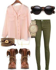 Verde militar -rosa