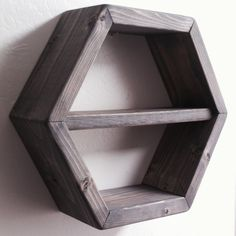 Shop for on Etsy, the place to express your creativity through the buying and selling of handmade and vintage goods. Hexagon Shelves, Floating Shelves, Shelf, It Is Finished, Etsy, Home Decor, Homemade Home Decor, Shelves, Wall Mounted Shelves