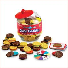 Learning Resources Goodie Games Color Cookies Set - They enjoy playing with this as toy food as much as they do the games associated with it! Learning Games, Learning Resources, Jar Games, Cookie Games, Play Kitchen Sets, Play Kitchens, Teaching Colors, Preschool Colors, Different Games