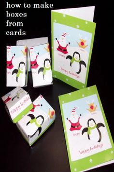 How to make boxes from greeting cards and 5 ways to repurpose them