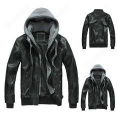 Discount China china wholesale Mens Korean Short Cool PU Hooded Slim Motorbike Zipper Up Coat Jacket Outwear Black [31667] - US$68.99 : Bluelans ($50-100) - Svpply