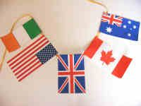 Printable flags for Olympic bunting.
