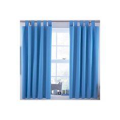 Ardella Blue Plain Tab Top Blackout Children S Curtains W 168 Cm L 137