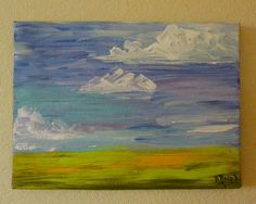 Original Landscape Acrylic Painting 9x12 inches by ArtByDonnaRose, $45.00