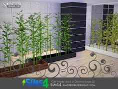 The Sims 4 Custom Content & Mods - Free Daily Updates Bamboo Plants, Indoor Plants, Around The Sims 4, Sims 4 House Design, Sims 4 Houses, Sims 4 Cc Finds, Sims Mods, Sims Cc, Decoration