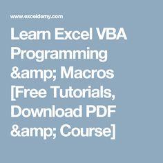 vba macro collection tutorials collection and microsoft