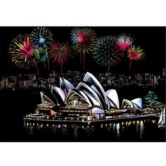 Sydney City Landscape Scratch Painting kit is a great way to reduce stress and create beautiful scratch art. Kratz Kunst, Australia Landscape, Scratch Art, Stick Art, Sketch Pad, Fun Hobbies, 5d Diamond Painting, Cross Paintings, Painted Paper