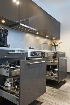 The top-notch Kitchen, white kitchen , contemporary kitchen , kitchen design creativity! Kitchen Room Design, Luxury Kitchen Design, Kitchen Cabinet Design, Home Decor Kitchen, Kitchen Layout, Interior Design Kitchen, Kitchen Ideas, Kitchen Hacks, Ikea Kitchen