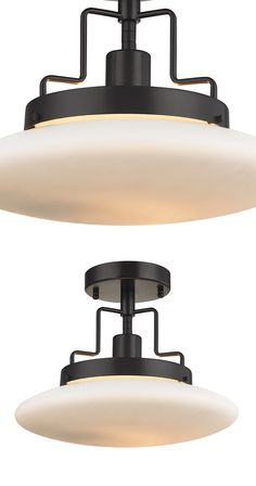 It's modern and chic, and industrial-inspired all at the same time. Find a perfect spot for this Irontown Pendant Light, and let it tie together your loose décor ends. Its disk-shaped bulb mounts in a ...  Find the Irontown Pendant, as seen in the Breaking News Collection at http://dotandbo.com/collections/breaking-news?utm_source=pinterest&utm_medium=organic&db_sku=115420