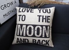 Hey, I found this really awesome Etsy listing at http://www.etsy.com/listing/176774477/love-you-to-the-moon-and-back-pillow