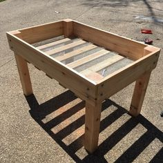 "While the title of this DIY suggests that I made a raised bed planter, what it doesn't tell you is how raised it actually is.  This planter sits about 30""..."