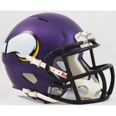 Minnesota Vikings NFL Mini Speed Football Helmet Matte Purple