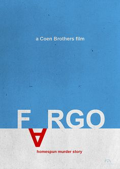 Fargo (1996) ~ Minimal Movie Poster by Rafael Muller #amusementphile