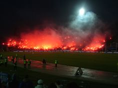 Górnik Zabrze fans #soccer #football #ultras TifoTV on YOUTUBE VIDEO CLIP >> http://www.youtu.be/1rpmXXNUrLw