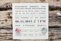 Wedding Invitation // Coral and Teal // Hearts // sixteensunbuckles