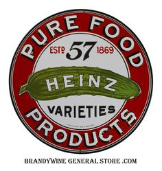 Heinz Sign is a brand new embossed tin sign made to look vintage, old, antique, retro. Purchase your embossed tin sign from the Vintage Sign Shack and save. Vintage Signs, Retro Vintage, Vintage Labels, Vintage Stuff, Vintage Posters, French Posters, Vintage Coke, Vintage Metal, Retro Diner