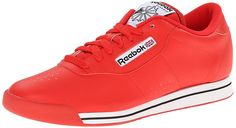 Reebok Women's Princess Classic Shoe, Techy Red/White/Black, 9 M US