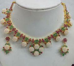 925 Silver Gemstone Ruby Emerald Hot Bridal Handcrafted Indian Pearl Jewelry | eBay