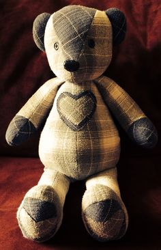 I love creating memory bears from flannel shirts! www.teddyangels.com