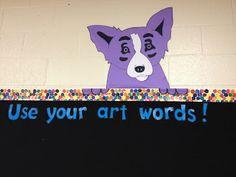 That Little Art Teacher: A Blue Dog Art Room Blue Dog Art Word Wall That Little Art Teacher: A Blue Dog Art Room Muro di parole di arte del cane blu Art Classroom Decor, Art Classroom Management, Classroom Ideas, Classroom Resources, Classroom Signs, Classroom Posters, Class Management, Classroom Organization, Project Management