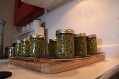Pressure canned peas