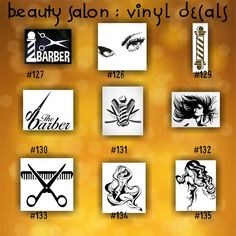 BEAUTY SALON Vinyl Decals  Custom Stickers Car Window - Hair stylist custom vinyl decals for car