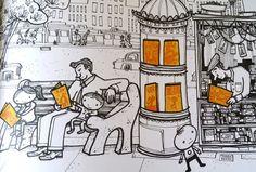 """Illustrazione di Steve Light, """"Hai visto il mio drago?"""", Lapis"""