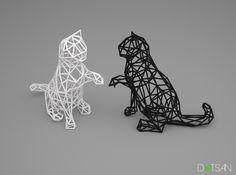 3D Wire Kitten