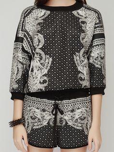 Baroque Print Premium Track Suit // Storets.com