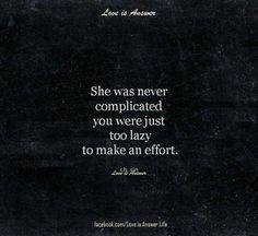 She was never complica