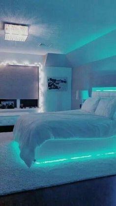 Neon Bedroom, Room Design Bedroom, Girl Bedroom Designs, Room Ideas Bedroom, Bedroom Themes, Budget Bedroom, Bedroom Furniture, Diy Bedroom, Bed Room