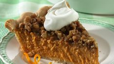 A crunchy oat topping complements every bite of creamy pumpkin pie.   Refrigerated pie crust makes it easy!