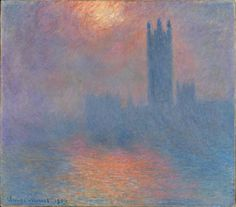 Claude Monet - One of my favorites. Looks like fire in the water.