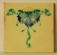Antique, Art Nouveau, Ceramic Tile. | eBay