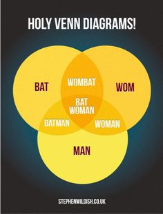 Possibly the best Venn Diagram, ever. Two words - absolute genius. Witty, visually appealing but, most importantly, mathematically correct. Sets and Venn Diagrams have been on the IGCSE syllabus fo. Alan Turing, Geek News, Mary Sue, Nerd Geek, I Laughed, Make Me Smile, Laughter, Clever, Haha