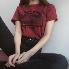 "koreanfashionotes: "" 에러 스퀘어 반팔 티셔츠 ( 2 color ) """