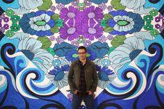 The Bricoleur: Glitter Paintings by Reuben Paterson Artist Painting, Artist Art, New Zealand Art, Maori Art, Kiwiana, Glitter Paint, Process Art, Painting Patterns, Famous Artists