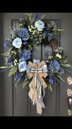 Excited to share this item from my shop: XL Blue Spring Wreath/Country Blue Summer Wreath/Everyday Wreath/Blue Door Decor Spring Wreaths, Summer Wreath, Country Wreaths, Country Blue, Blue Springs, Door Hangers, Door Wreaths, Spring Summer, Etsy Shop
