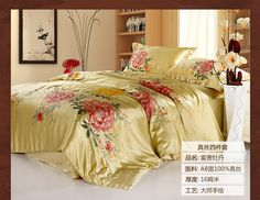 Luxry hand-painted Silk bedding sets