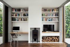 Ormond Road by GKMP Architects- fireplace
