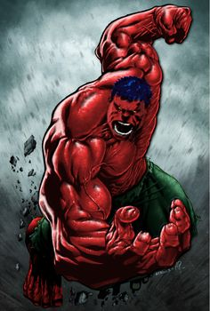Mr. Hulk red and blue