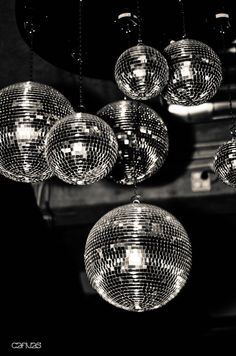 Can you ever have too many disco balls.  1970's and 80's.