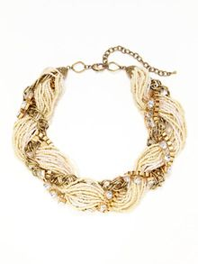 Multi Beaded Weave Necklace by Leslie Danzis at Gilt 59