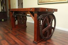 Unique Reclaimed Wood Desk by LostArkWoodWorks on Etsy, $2600.00