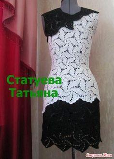 Всем привет!!! Предлагаю Вашему вниманию юбку и платье, всё тем же рисунком мельница. МОЖНО ТАК... А МОЖНО И ТАК РАСХОД на платье... 250 ( белые) + 200 ( черные )